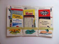 Vintage 1955 Delta C&S Air Lines Flight Folio Souvenir Packet Miami Cuba Brazil
