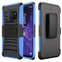 For Galaxy S9 Hybrid Rugged Shockproof Case Armor Cover Belt Clip Holster Stand