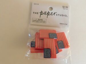 6pc American Flag Shank Buttons by the paper studio