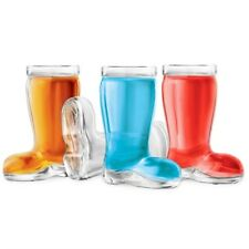 Final Touch Das Boot SHOT GLASSES Glass Novelty Shaped Party Shooter Set of 4
