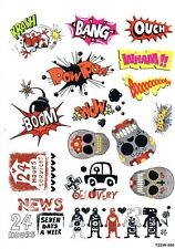 #1004 1 SHEET BOMB STICKER VINYL DECALS FOR SKATEBOARDS SCOOTERS LAPTOPS...