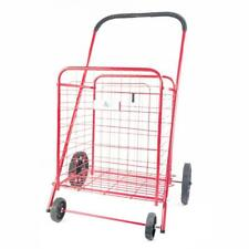 Athome Medium Deluxe Rolling Utility / Shopping Cart - Stowable Folding Cart