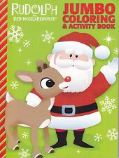 Christmas Rudolph the Red-Nosed Reindeer Coloring Book ~ Rudolph & Santa
