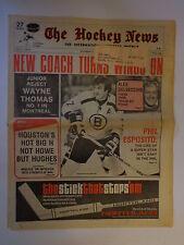 The Hockey News November 23, 1973 Vol.27 No.8 Esposito Thomas Delvecchio Nov '73