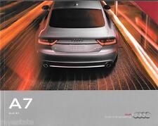 2015 15  Audi  A7  original sales  brochure  MINT