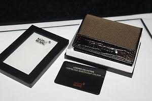 Montblanc Nightflight 2cc Wallet Visitenkarten Etui Card Holder Neu in OVP