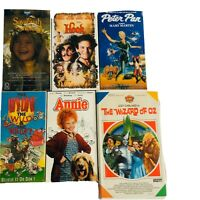 6 VHS Movies Hook Peter Pan Annie Wizard Of Oz Savannah Smiles Weird And Wacky