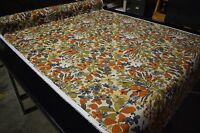 "Floral Poly Canvas Duck Fabric 54"" UV Marine Outdoor Upholstery Robert Allen BTY"