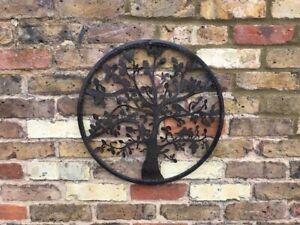 Tree of Life Wall Art-Garden-Bird-Fence-Ornament-Metal-Gift-Present-In/Outdoor