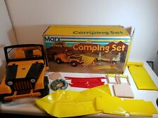 Vintage Marx Johnny West Camping Set, Jeep With Original Box