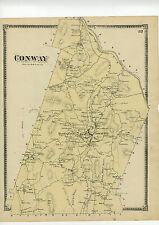 1871 Map of Conway, Mass. from Franklin County Atlas w/family names - original
