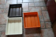 "3 x photographic  Darkroom Processing Dishes plastic 12""x 14"""
