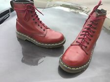 Vintage Dr Martens 1460 red cherry leather boots UK 6 EU 39 Made in England