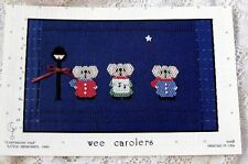 ~ NEW LITTLE MEMORIES WEE CAROLERS SMOCKING DESIGN PLATE CHRISTMAS  ~