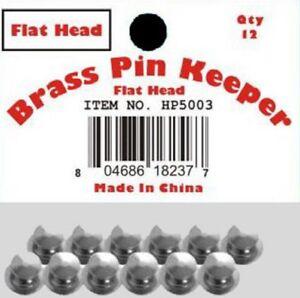 ( 24 Pieces ) Pin Keepers backs Locks Locking (Flat Head Silver)