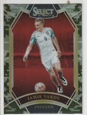 2016-17 Panini Select Soccer #206 Jamie Vardy Field Level Camo Prizms 12/20