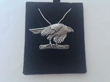 B2   Hawk  on a 925 sterling silver Necklace Handmade 30 inch chain