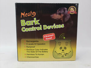 NEST9 PETSAFE BARK CONTROL DEVICE ULTRASONIC SOUND RECHARGEABLE RAINPROOF
