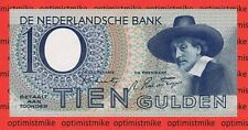 (29) PL 40 NL 8 9AN 10 Gulden AU 18.01.1943 Holland Pick 59 Netherlands