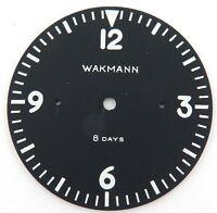 SUPER RARE cWW2 / WAKMANN 8 DAYS AIRCRAFT / ARMY CLOCK DIAL.