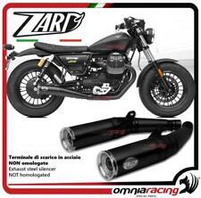 Zard 2 exhausts slipon lback silencer racing Moto Guzzi V9 Bobber/Roamer 17>