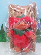 "1984 Flower Troll Girl- 6"" Dam Norfin Troll Doll -New On Card In Sealed Bag-Rare"