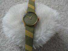 Swiss Made Orion Quartz Ladies Watch - Pale Green and Yellow