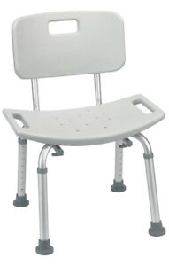 Drive Medical Bathroom Safety Shower Tub Bench Chair with Back - 400 LB Capacity