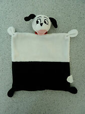 *- Doudou plat chien 101 dalmatiens  DISNEY NICOTOY noir et blanc -  NEUF *
