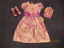 Rapunzel Dress Up Lot Shoes Tiara Jewelry Set Girl's 4-6X Disney Princes NWT New