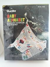 Vintage Bucilla Baby Alphabet Child's Coverlet To Crochet Kit 7939 Sealed