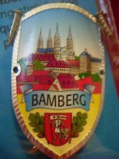Bamberg Germany new shield mount badge stocknagel hiking medallion G9972