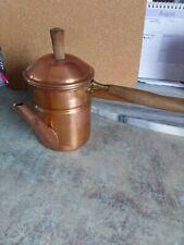 Copper  coffe/tea maker wooden handle