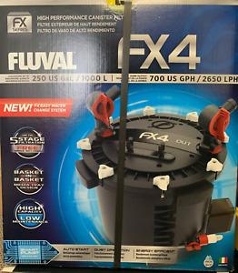 FLUVAL FX4 Fish Tank Marine Aquarium Canister Filter FREE SHIPPING!! DAMAGE BOX