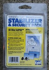 A/C Safe Window A/C Stabilizer and Security Pack White Easy Install