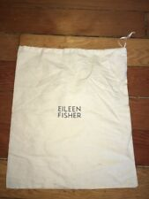 Eileen Fisher Ivory Organic Cotton Drawstring Dust Cover Travel Bag 14.5x12