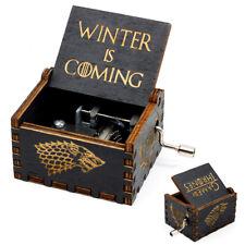 """Game of Thrones"" Music Box Carved Wooden Handmade Hand Crank Kids Birthday Gift"