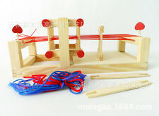 Chinese Traditional table weaving loom Machine Model Hand Craft Wood Toy Medium