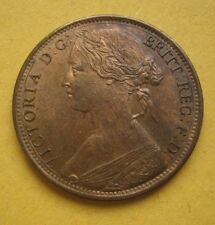 1865 over 3 VICTORIA PENNY UNC GOUBY 5 XXRARE MS 64 RB