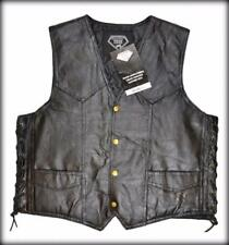 Motorcycle Leather vest jacket with lace ! Big Size M ~ 3XL  NEW - harley custom