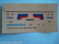 DECALS KIT 1/12 HELMET CASCO ELIO DE ANGELIS LOTUS F1