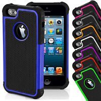 Cover for Apple iPhone 4s 5s 5c 6s 7 Hard Shockproof Case FREE Screen Protector