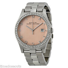 MARC JACOBS MBM3360 Crystals on Bezel Rose Gold Dial Womens Watch NEW FAST SHIP