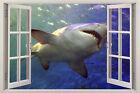 shark 3D Window View Removable Home Decor Mural Wall Art Sticker Vinyl Decal