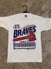VINTAGE ATLANTA BRAVES 1992 T SHIRT ADULT L Deadstock