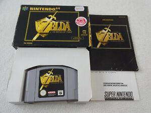 Zelda Ocarina of Time N64 Spiel komplett mit OVP und Anleitung