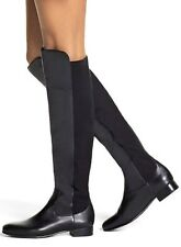 $199 Louise et Cie Andora Calf Leather Stretch Boots Store Display Models Sz 7.5