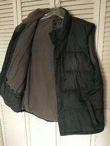 L.L. Bean Goose Down Sleeveless Puffer Vest Black Men's XL TALL 80% Down Pockets