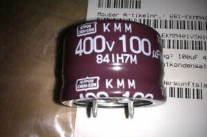 100µF 400V ALUMINUM ELECTROLYTIC CAPACITORS 10 Stück
