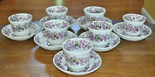 7 Antique Transferware Polychrome Ironstone Cup Saucer Sets Wedgwood Tyrol